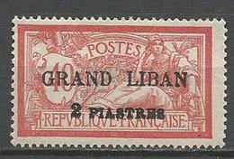 GRAND LIBAN N° 10 Surcharge Lourde NEUF* TRACE DE CHARNIERE TB / MH - Gran Libano (1924-1945)