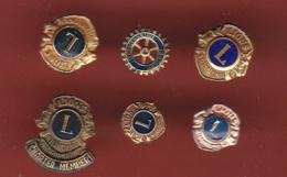 54346-lot De 6 Pin's..Le Lions Clubs .association.. - Associazioni