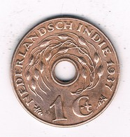 1 CENT 1937 NEDERLANDS INDIE /6714/ - [ 4] Colonies
