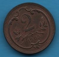 ÖSTERREICH 2 HELLER 1905 KM# 2801 Franz Joseph I - Austria