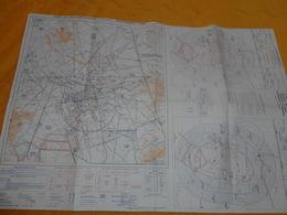 CARTE ANCIENNE 2e EDITION 1968. / FRANCE VOL A VUE ET RADIO NAVIGATION REGION PARISIENNE. / ZONE RESERVE COMMUNE D'ORLY - Cartes
