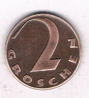2 GROSCHEN  1937 OOSTENRIJK 6720// - Austria
