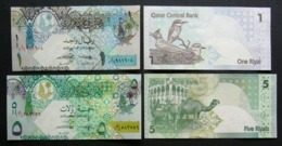 Qatar 1, 5 Riyal 2008 FdS UNC 2x Pcs Set - Qatar