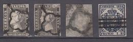 SPAIN 1850-54 - 4 Stamps - Usados