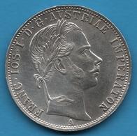 ÖSTERREICH Habsbourg 1 FLORIN 1861 A  KM# 2219 Franz Joseph I Argent 900‰ Silver - Austria