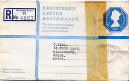 Postal History Cover: GB Registered Postal Stationery Cover 69 P From Waltham Cross - Postal Stationery