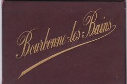 52. BOURBONNE LES BAINS. RARETÉ.  CARNET FAÇON CUIR ET SYSTÈME DÉPLIANT DE 12 PHOTOS. - Bourbonne Les Bains