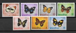 LESOTHO - YVERT N° 242/248 ** MNH - COTE = 22.5 EUR. - PAPILLONS - Lesotho (1966-...)