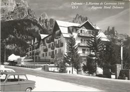 W94 San Martino Di Castrozza (Trento) - Majestic Hotel Dolomiti - Auto Cars Voitures / Viaggiata 1968 - Italie