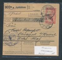 Paketkarte -Memel Gebiet   (oo4438  ) Siehe Scan ! - Allemagne