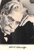 Célébrités ALBERT SCHWEITZER  (Prix Nobel De La Paix Kaysersberg Lambaréné)timbre Stamp GABON - Prix Nobel