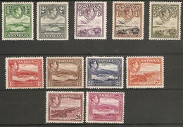 ANTIGUA 1938 - 1951 SET TO 10s SG 98/108 MOUNTED MINT - HIGH CATALOGUE VALUE - - 1858-1960 Crown Colony