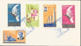 J) 1967 PARAGUAY, SATELLITE, WORLD, J.F. KENNEDY, RANGER VII OF THE MOON, MULTIPLE STAMPS, FDC - Paraguay