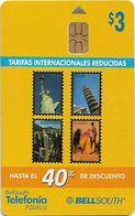 Ecuador - Bell South - Tarifas Internacionales Reducidas (Axalto Chip), 2002, 3$, Used - Ecuador
