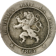 Monnaie, Belgique, Leopold I, 5 Centimes, 1864, TB, Copper-nickel, KM:21 - 1831-1865: Leopold I
