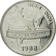 Monnaie, INDIA-REPUBLIC, 50 Paise, 1988, SUP, Stainless Steel, KM:69 - Inde