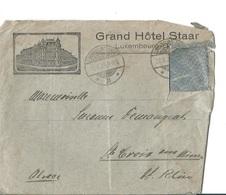 Enveloppe Du Luxembourg Du Grand Hôtel Staar De 1929 - Luxembourg