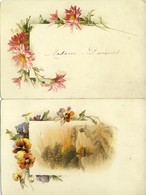 Menu Du 14 Avril 1896 , Pour Madame Durantet .  Charmantes Fleurs : Capucines , Pensées , Dahlias ! - Chromo