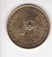 Jeton Médaille Monnaie De Paris MDp Zoo De La Palmyre Charente Maritime Les Guépards - Monnaie De Paris