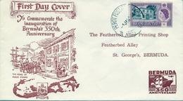 1959 , BERMUDA , SOBRE DE PRIMER DIA , 350 º ANIVERSARIO DE BERMUDA . - Bermudas