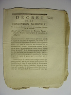 DECRET CONVENTION NATIONALE 7 NOVEMBRE 1793 - CONTREFACON DES ASSIGNATS FORMES PAPIERS PLANCHES ETC - IMPRIMERIE DELCROS - Décrets & Lois