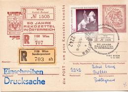 Postal History Cover: Austria Used R Postal Stationery Card - Interi Postali