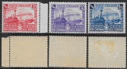 Italia Italy 1938 Regno Ferrovie Sa N.449-451 Completa Nuova MNH/MH **/* - Nuovi