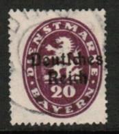 BAVARIA  Scott # O 55 F-VF USED (Stamp Scan # 419) - Beieren