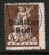 BAVARIA  Scott # 261 F-VF USED (Stamp Scan # 419) - Beieren