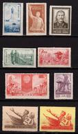 CHINE - CHINA - Chine Populaire 1953 - 9 Timbres Neufs - 1949 - ... République Populaire