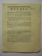 DECRET CONVENTION NATIONALE 22 OCTOBRE 1793 - CONTREFACON ASSIGNATS FAUSSE MONNAIE - IMPRIMERIE VEUVE DELCROS - Décrets & Lois
