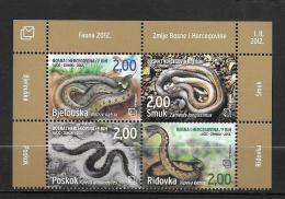 27 - BOSNIE - 319 à 322**MNH - Slangen