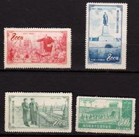 CHINE - CHINA - Chine Populaire 1952 / 1953 - 4 Timbres Neufs - 1949 - ... République Populaire