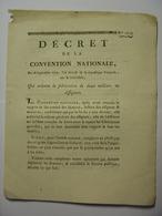DECRET CONVENTION NATIONALE 28 SEPTEMBRE 1793 - ORDONNE FABRICATION DE 2 MILLIARDS D'ASSIGNATS  IMPRIMERIE VEUVE DELCROS - Décrets & Lois