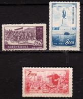 CHINE - CHINA - Chine Populaire 1952 / 1953 - 3 Timbres Neufs - 1949 - ... République Populaire
