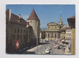 YVERDON - Le Château Et Le Temple - Voitures - Vaud - Suisse - Animée - VD Waadt