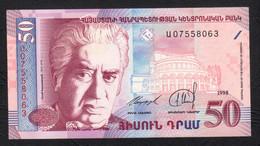Armenia;  50 Dram - P41 - 1998 - UNC - Armenia