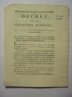 DECRET CONVENTION NATIONALE 23 AOUT 1793 - JUGEMENTS FAUX ASSIGNATS & FAUSSE MONNAIE - IMPRIMERIE LIMET CLERMONT FERRAND - Décrets & Lois