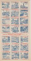 Feuillet Gommé De 21 Vignettes Tour De France 1949 Ed. J Foret - Commemorative Labels
