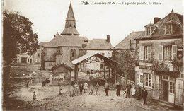 CPA - France - (87) Haute-Vienne - Lauriére - Le Poids Public, La Place - Lauriere