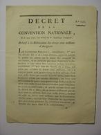 DECRET CONVENTION NATIONALE 6 JUIN 1793 - FABRICATION D' ASSIGNATS - IMPRIMERIE LIMET CLERMONT FERRAND - Décrets & Lois