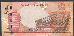 BAHREIN  (BAHRAIN) : 1/2  Dinar - 2007  - UNC - Bahreïn