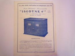 DOC  PUB  APPAREIL  RADIO ANCIEN   1931   XXX - Vieux Papiers