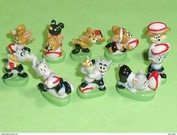 Série De Feves Complète : Tom Et Jerry , Rugbymen - Dessins Animés