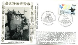 Bureau Temporaire Draguignan Du 13 Août 1994 - Débarquement Et Bataille De Provence  - X 700 - Guerre Mondiale (Seconde)