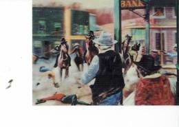 Japan 1967-  POSTCARD -EN 3 DIMENSIONS -ATTACK TO THE BANK BY G.DE SAINTE CROIX Visiomatic PARIS Litho In Japan SPADEM 1 - Ansichtskarten