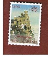 SAN MARINO - UNIF. A158 POSTA AEREA -   1991 NATALE: LA ROCCA INNEVATA    - MINT** - Posta Aerea