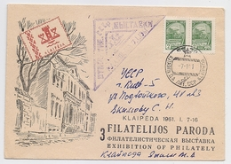 MAIL Post Cover Mail USSR RUSSIA Klaipeda Lithuania Exhibition - 1923-1991 UdSSR