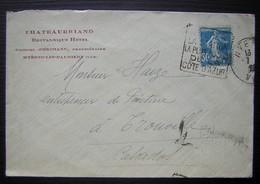 Hyères Les Palmiers (Var) Chateaubriand Britannique Hôtel Georges Jeorimann Propriétaire Avec Daguin D'Hyères - Marcophilie (Lettres)