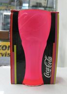AC - COCA COLA NEON PINK COLORED GLASS  TUMBLER GLASS IN BOX FROM TURKEY - Mugs & Glasses